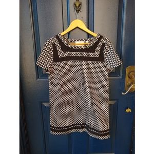 Anthropologie Dresses - Anthropologie Postmark | 60's b&w shift mini dress